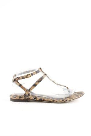 Dolce & Gabbana Riemchen-Sandalen braun-schwarz Animalmuster Casual-Look