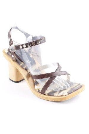 Dolce & Gabbana Riemchen-Sandalen dunkelbraun-hellbraun extravaganter Stil