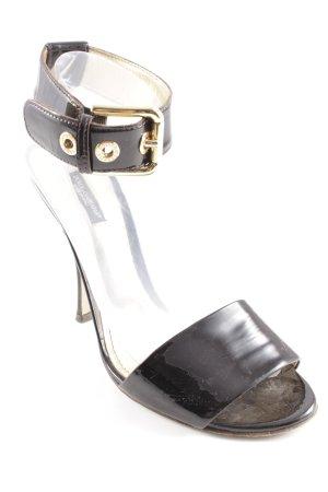Dolce & Gabbana Riemchen-Sandaletten bordeauxrot Lack-Optik