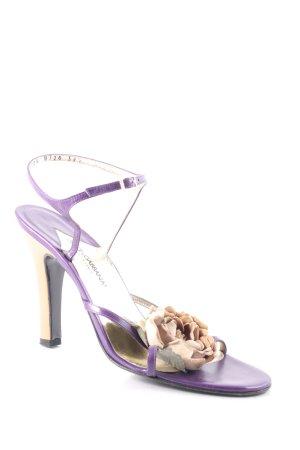 Dolce & Gabbana Riemchen-Sandaletten dunkelviolett-beige Romantik-Look