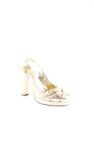 Dolce & Gabbana Riemchen-Sandaletten goldfarben Elegant