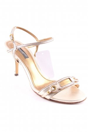 Dolce & Gabbana Strapped High-Heeled Sandals gold-colored-silver-colored elegant