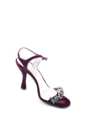 Dolce & Gabbana Riemchen-Sandaletten purpur Elegant