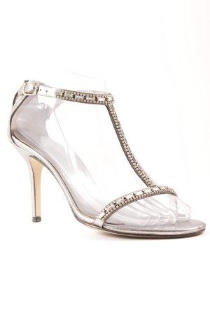 Dolce & Gabbana Riemchenpumps silberfarben Elegant