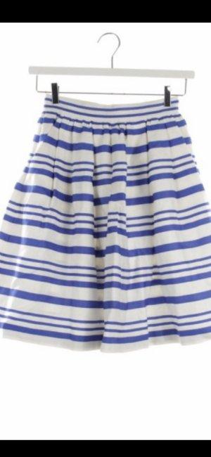 Dolce & Gabbana Falda asimétrica azul neón-blanco