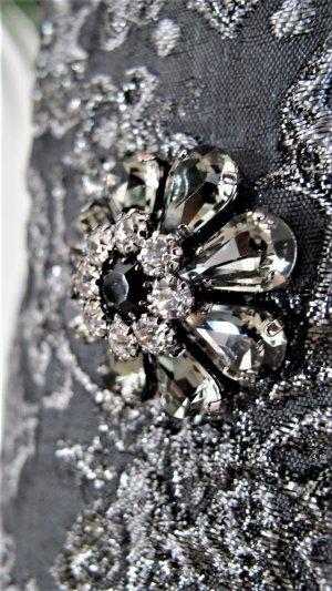 Dolce & Gabbana Gonna a tulipano antracite-argento Tessuto misto