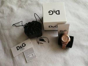 Dolce & Gabbana Montre avec bracelet métallique or rose