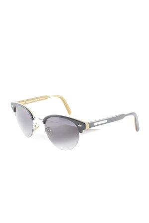 Dolce & Gabbana runde Sonnenbrille schwarz-beige Street-Fashion-Look