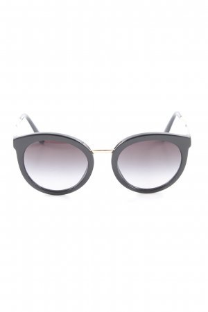 Dolce & Gabbana Round Sunglasses black-gold-colored elegant