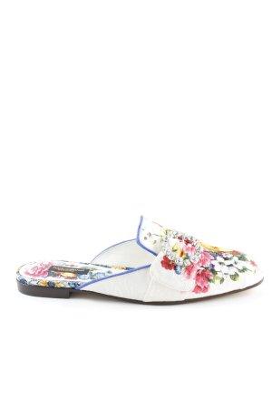 Dolce & Gabbana Sabots flower pattern extravagant style
