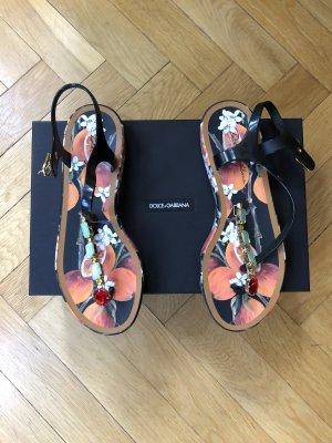 Dolce & Gabbana Sandales à lanière noir