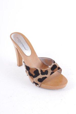 Dolce & Gabbana Sandaletten dunkelbraun-braun Leomuster Safari-Look