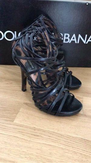 Dolce & Gabbana High Heel Sandal black-bronze-colored