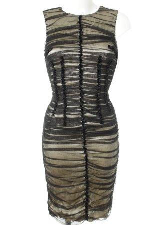 Dolce & Gabbana Schlauchkleid schwarz-hellbeige Elegant