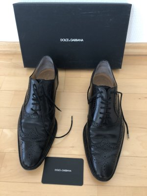 Dolce Gabbana Schnür Schuhe, Größe 39, schwarz