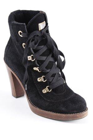 Dolce & Gabbana Bottines à lacets noir-brun style mode des rues
