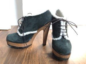 Dolce & Gabbana Schuhe Holzabsatz Fell Gr.40 wie Neu