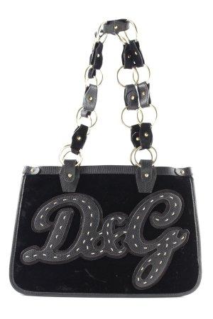 Dolce & Gabbana Schultertasche schwarz Schriftzug gedruckt Casual-Look