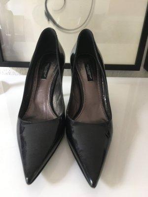 Dolce & Gabbana schwarze Lackleder High Heels