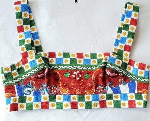 Dolce & Gabbana Top tipo bustier multicolor Seda