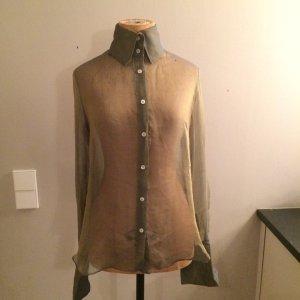 Dolce & Gabbana Seiden Bluse transparent grün Gr. 36