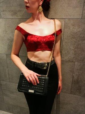 Dolce&Gabbana Seiden Bralette in rot, aufgesticktes Muster
