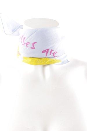 Dolce & Gabbana Seidentuch Schriftzug gedruckt Casual-Look