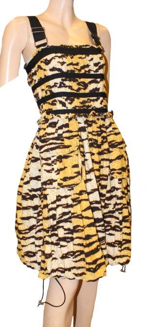 Dolce & Gabbana Balloon Dress black-brown cotton