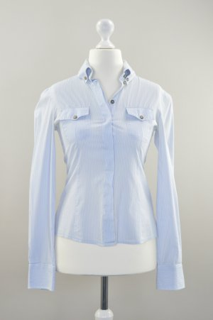 Dolce & Gabbana Shirt Bluse gestreift blau weiß Größe S
