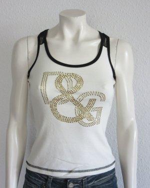 Dolce & Gabbana Shirt Gr. S creme/weiss Spitze Logo