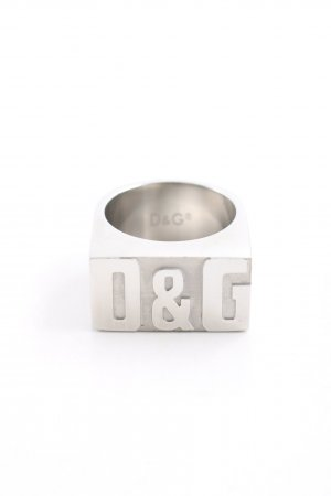 Dolce & Gabbana Silver Ring silver-colored extravagant style