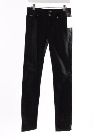 Dolce & Gabbana Skinny Jeans Schwarz
