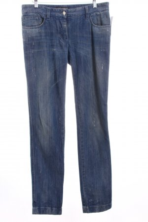 Dolce & Gabbana Slim Jeans blau Destroy-Optik