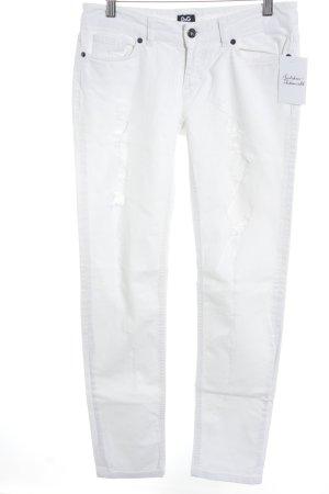 Dolce & Gabbana Slim Jeans weiß Destroy-Optik