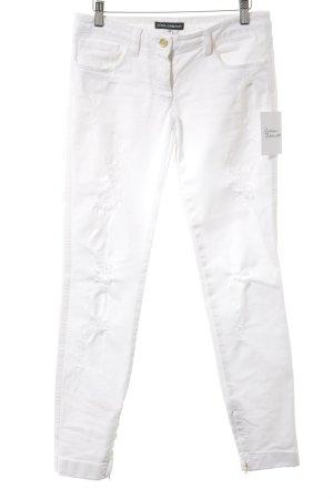 Dolce & Gabbana Slim Jeans weiß minimalistischer Stil