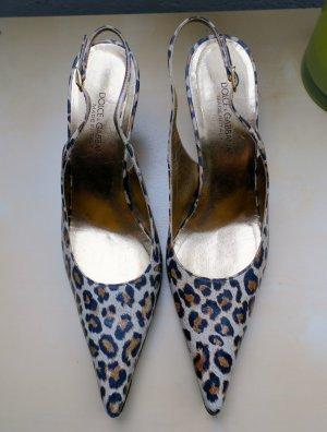Dolce & Gabbana Sling Back Kitten Heels, Gr. 37.5