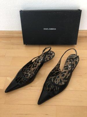 Dolce Gabbana Sling Pumps, Größe 40, schwarz