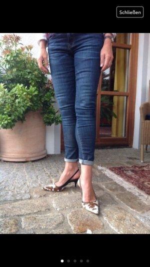 Dolce&Gabbana Sling Pumps, Kuhfell