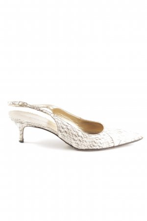 Dolce & Gabbana Slingback-Pumps weiß Allover-Druck Elegant