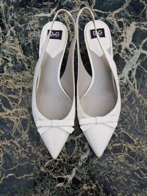 Dolce & Gabbana Décolleté modello chanel bianco