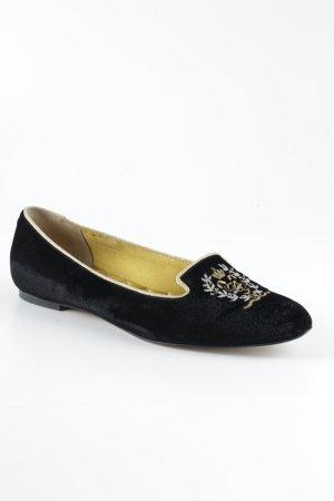Dolce & Gabbana Slipper schwarz-goldfarben Casual-Look