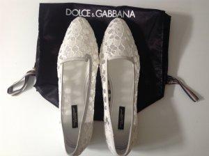 Dolce & Gabbana Scarpa bassa bianco-grigio chiaro