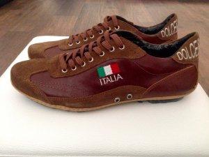 Dolce & Gabbana Sneaker, Gr. 40, Braun, Leder