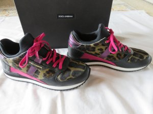 Dolce & Gabbana Lace-Up Sneaker multicolored leather