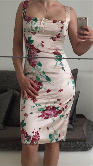 Dolce Gabbana Sommerkleid 100% Seide IT40/S gerblümt