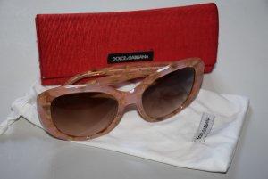 Dolce & Gabbana Lunettes de soleil angulaires abricot
