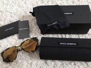 Dolce & Gabbana Gafas de sol cuadradas color oro-verde