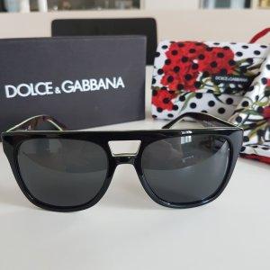 Dolce & Gabbana Hoekige zonnebril zwart-lichtgroen