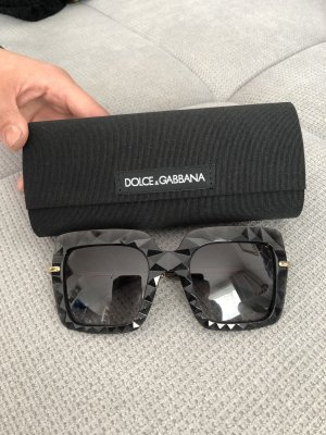 Dolce & Gabbana Angular Shaped Sunglasses black-gold-colored