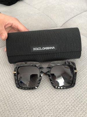 Dolce & Gabbana Lunettes de soleil angulaires noir-doré